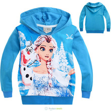 2 4Age Children hoodie Elsa Children Outerwear Coats Brand Cartoon Jackets Autumn Baby Kids Hoodies Boy
