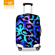 Leopard Printing Travel Waterproof Luggage Cover Portable Elastic Stretch Protect Suitcase Cover Apply to 18''-30'' Case Covers(China (Mainland))