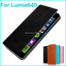 For Microsoft Lumia 640(5.0) Case Luxury Flip Leather Stand Case For Nokia Lumia 640(5.0) Hight Quality Book Style Phone Cover(China (Mainland))