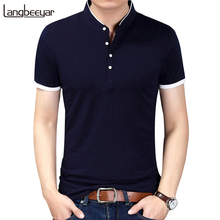 Buy 2017 Summer New Fashion Brand Clothing Tshirt Men Solid Color Slim Fit Short Sleeve T Shirt Men Mandarin Collar Casual T-Shirts for $13.77 in AliExpress store