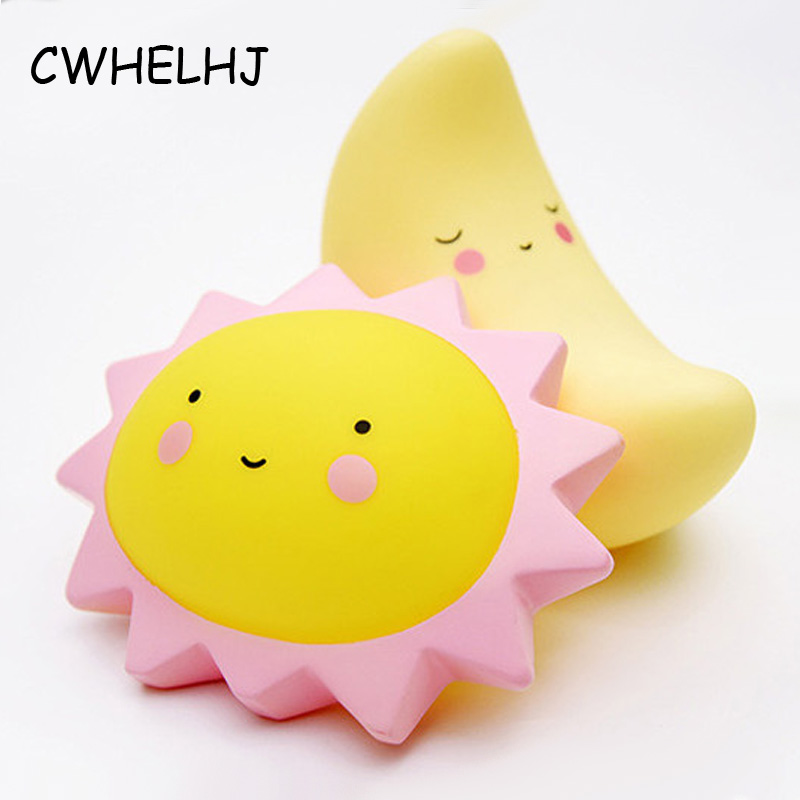 Creative Kid's Room Decoration Photography Props Decoration Crafts Sun/Moon/Star 3D Nightlight Figurines & Miniature Baby Gift(China (Mainland))