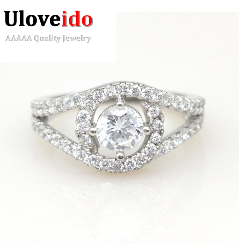Aliexpress Buy Sterling Silver Simulated Diamond RingEngagement Rings For Women Korean