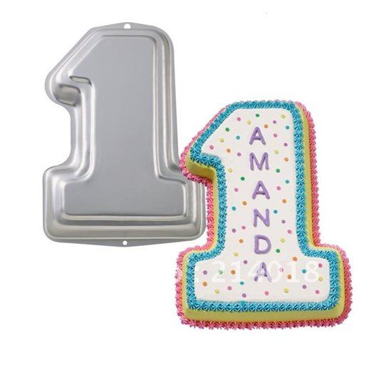 number 4 shaped cake pan