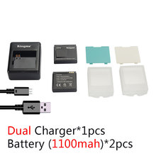 KingMa xiaomi yi battery (2-Pack) 1100mAh and xiao yi battery Double Dual Charger for Xiaomi Yi camera Action Camera Accessories