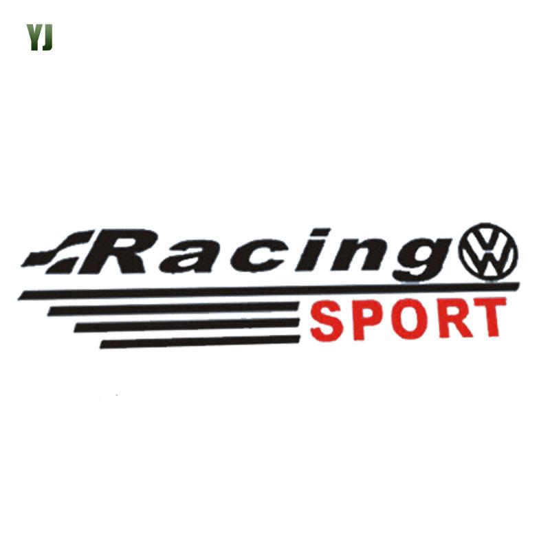 1Pair Volkswagen Rear view Mirror Sticker Motion Modified Racing Sticker Black White CT2501<br><br>Aliexpress