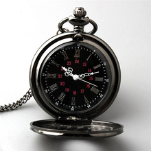 The new color guns necklace antique pocket watch  men and women classic high-grade black large lanyards table  N692