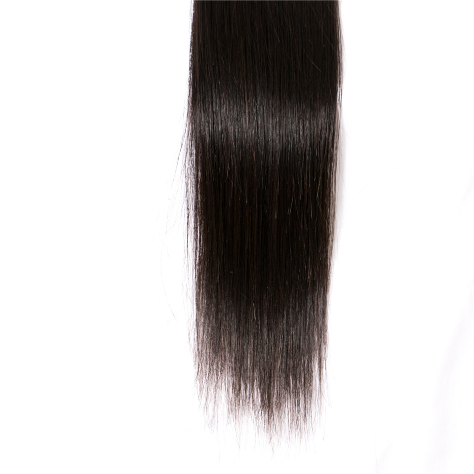 Luduna Malaysian Straight Hair Bundles 100% Human Hair Bundles 1 Piece 100g Non-remy Hair Weave Natural Black Color 8-28Inch