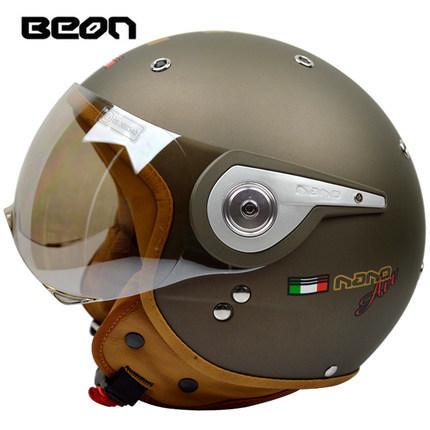Free shipping BEON motorcycle helmet half helmet retro helmet male and female electric car helmet B-110 / Matt copper gold(China (Mainland))
