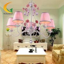 American pastoral cloth Continental Iron Pendant Lights E27 children's bedroom, living room cristal light pendant lamp(China (Mainland))