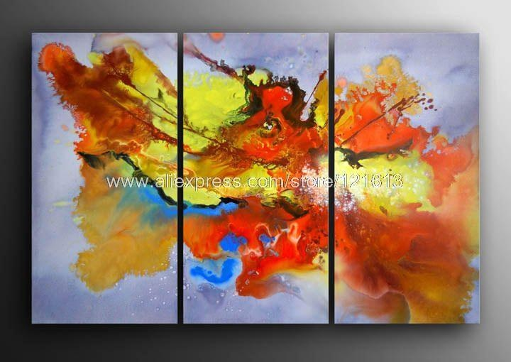 Gift modern abstract painting oil contemporary wall art for Acrylic mural painting techniques