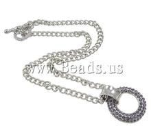 Free shipping!!!Zinc Alloy Jewelry Necklace,Kawaii,, with Iron, zinc alloy lobster clasp, Donut, platinum color plated