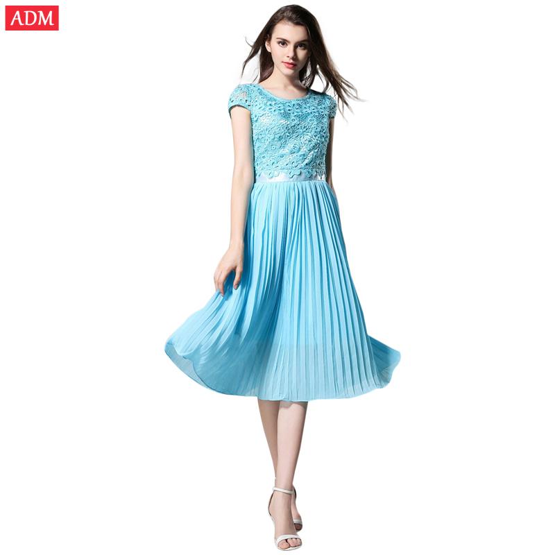 ADM 2015 Summer Style Bohemia Women Dress Long Chiffon Skirts Lace Slim Tshirts Dress Hollow Out Solid Color Maxi Woman Skirts(China (Mainland))