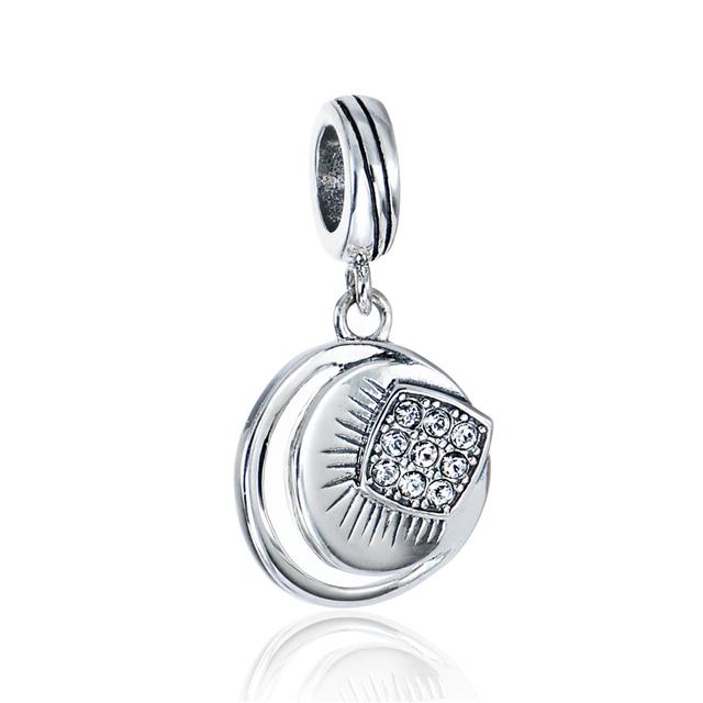 Новый горячая распродажа подходит браслеты ожерелья стерлингового серебра бусины упростить проложить CZ каменные подвеска подвески ювелирные изделия DIY бусины оптовая продажа