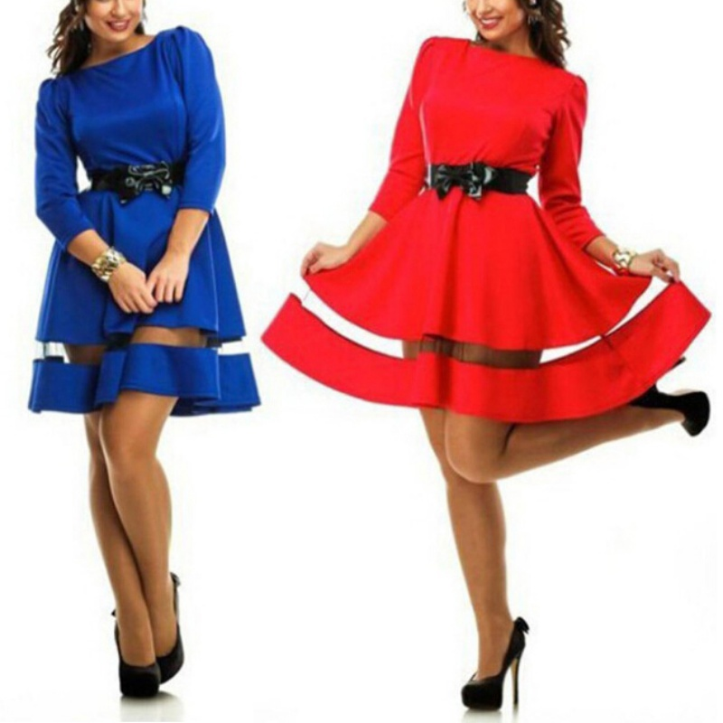 New Sexy Women Bodycon Long Sleeve Casual Dress Clubwear Plus Size L-6XL(China (Mainland))
