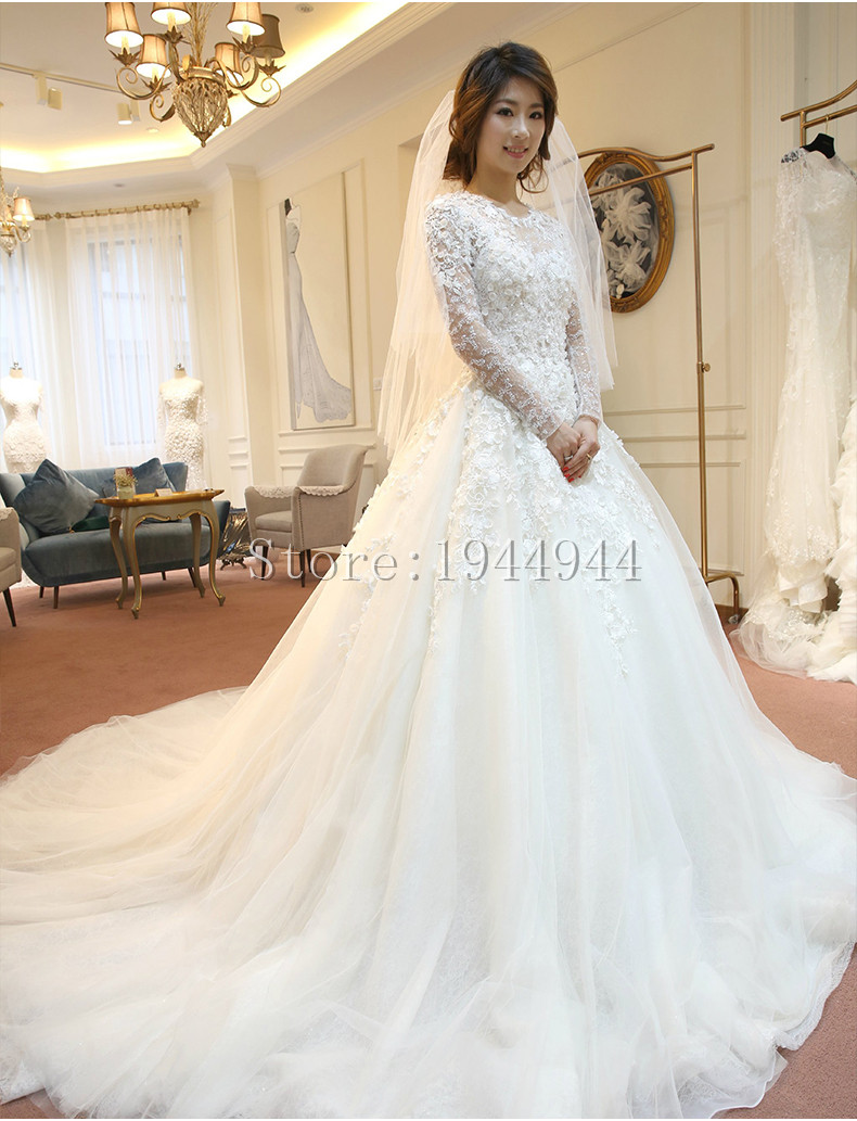 Real image lace ball gown china wedding dresses 2015 white for Wedding dresses in china