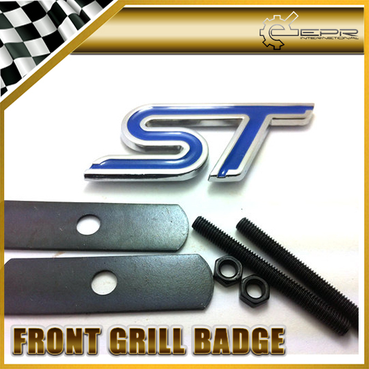 For Ford ST Blue Front Grill Badge Emblem MUSTANG FIESTA ESCORT FALCON(China (Mainland))