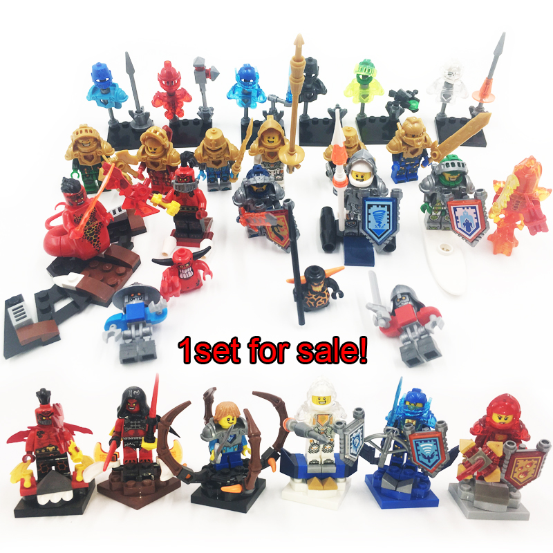 Nexo Castke Knights Figures Building Blocks Aaron figures Model Bricks Nexus Compatible goes Kids Toy children  -  8 STAR MALL store
