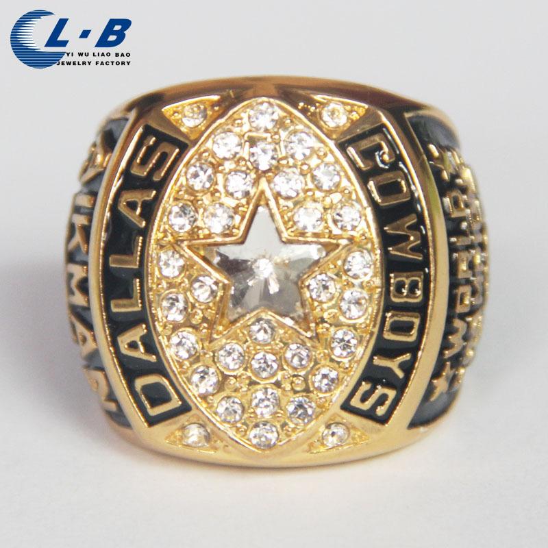 2015 New Punk Style Sport Perhiasan Dallas Cowboys 1992 Super Bowl Kejuaraan Cincin Football NFL Cincin