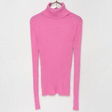 מצולעים גולף סוודר סרוג חולצות נשים גבוהה צוואר סוודרי עם אגודל חור סתיו חורף Jumper(China)