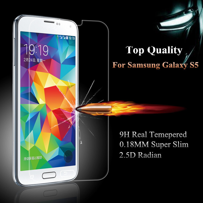 Explosion Proof Premium Tempered Glass Film Screen Protector For Samsung Galaxy S5 i9600 G900F Shatter(China (Mainland))