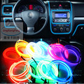 Universal 12V 10 Colors Flexible Neon Light Glow EL Wire Rope tape Cable Strip LED Neon