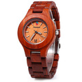 2016 New Fashion Seasonal Male Quartz Watch with Date Display Maple Body Women Wooden Watch for