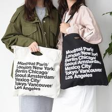 Vintage American Apparel Canvas AA City Bag Letter Cowboy Big Shopping Bag Casual Women Shoulder Bag(China (Mainland))