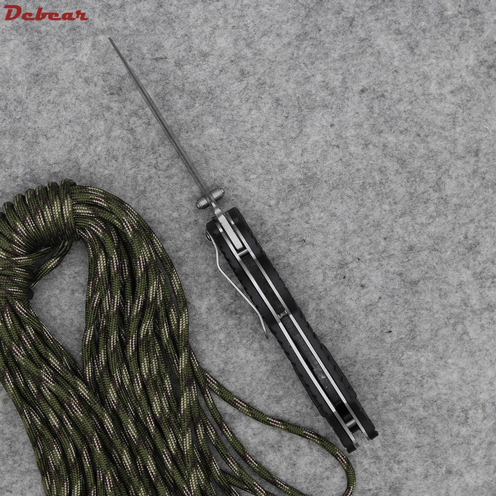 Buy Dcbear 4 Screwdriver Knife 1920 Half Gear Serrated Tool Best Folding Knife 8CR13 58HRC Rubber Handle Tactical Survival Knife cheap