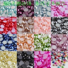 Buy Mixed Color Half Round ABS Imitation Pearl Beads Fake Flat Back Scrapbook Craft DIY Jewelry Findings 8mm 500Pcs BMZZ08m for $3.56 in AliExpress store