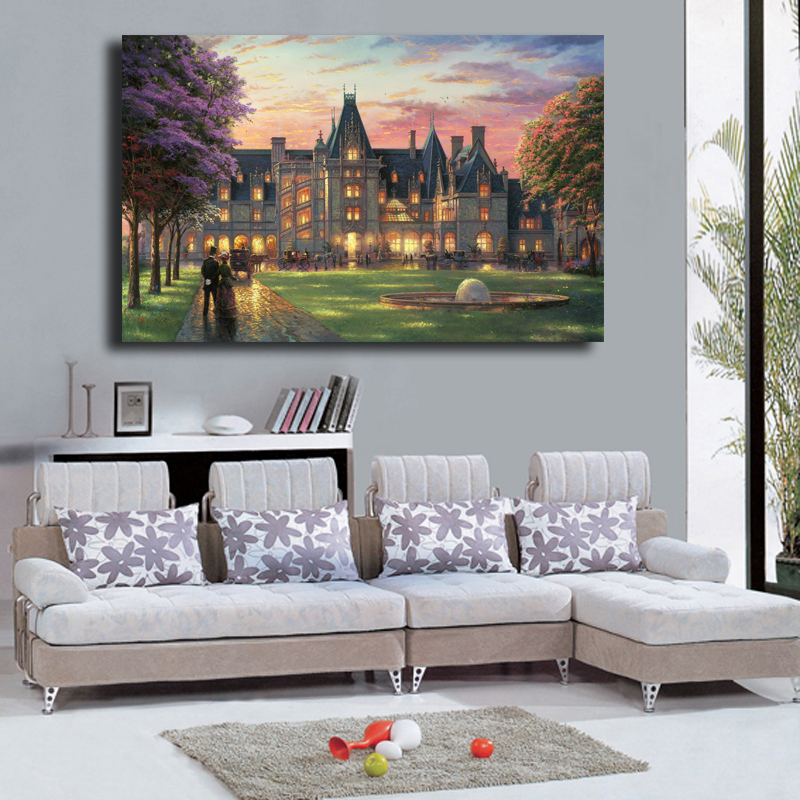Thomas landscape art oil painting HD canvas print modern home living room picture(China (Mainland))