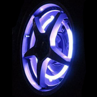 Free shipping Intelligent wind fire wheels colorful motorcycle rim light tyre rim wheel arc car decoration lamp 2 pieces/lot(China (Mainland))