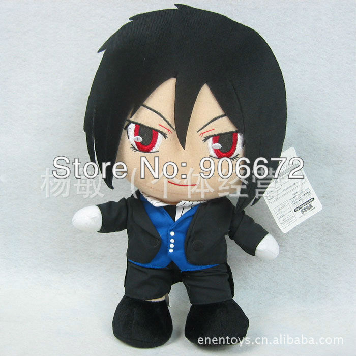 HOT good quality Black Butler/Kuroshitsuji Grell Sutcliff japan anime plush toys 30cm free shipping children gift