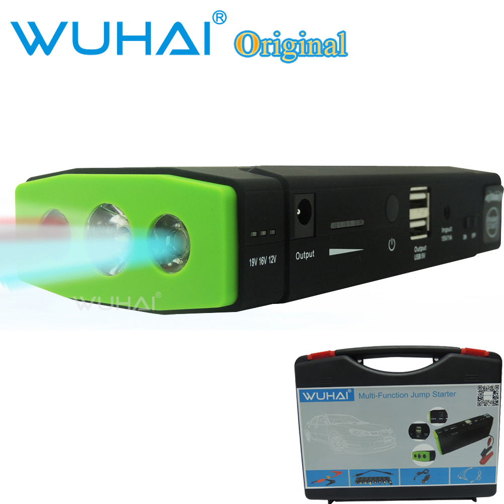 50800mAh WUHAI car jump starter auto emergency start with 3 lamp lighting 12V power bank for vehicle motorcycle storage battery(China (Mainland))