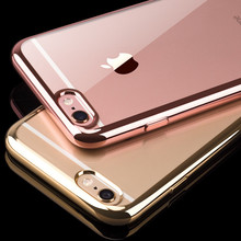 Buy iPhone 7 7plus Plating TPU Silicon Ultra-thin Soft Clear Transparent Back Cover Phone Case Apple 5 5s SE 6 6s Plus 6plus for $1.15 in AliExpress store