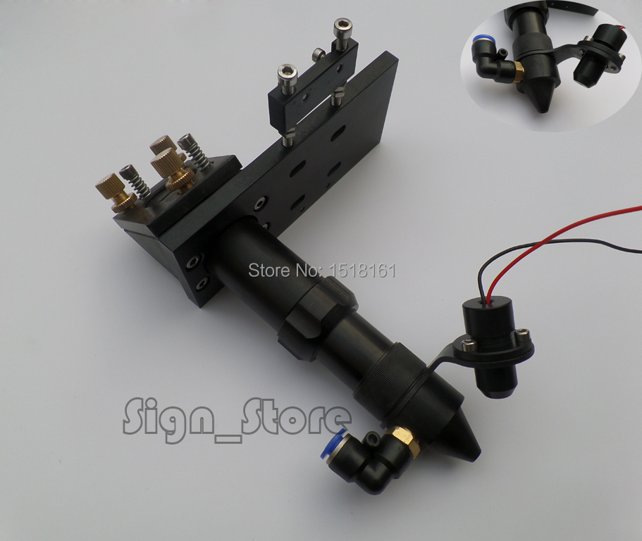 Co2 Laser Head Mirror 25mm Focus Lens 20mm FL 50.8 & 101mm Integrative Mount Red Dot Positioning for Laser Engraver Cutter(China (Mainland))