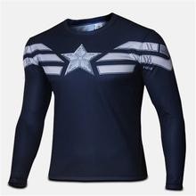 2016 New Men's Casual Comics Superhero Costume Shirt Jogging Tops T-Shirts soldier Marvel T shirt Costume Comics