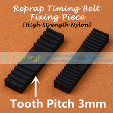 Reprap DIY Timing Belt Fixing Piece High strength nylon Tooth pitch 3mm Clamp Fixed Clip 9*40mm For 3 D Printer Accessories