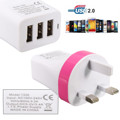 Universal 5V 3 4A EU Plug 3 Ports USB Wall Travel Charger Adapter For iphone6 5S