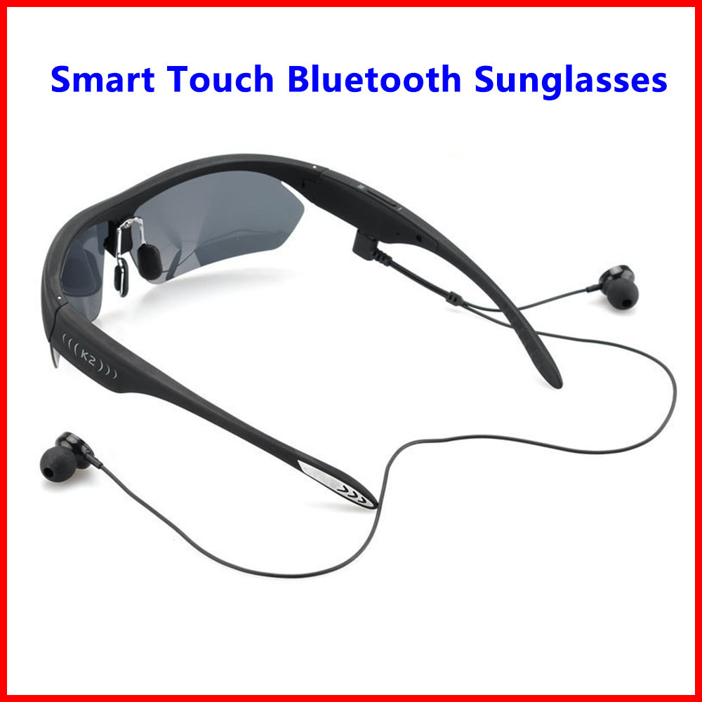K2 Smart Touch Polarized Sunglasses Bluetooth 4.0 Stereo Headphone Headset Voice Control w/ Mic For iPhone 6 6s Plus Samsung LG(China (Mainland))