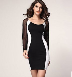 Trendy-Women-s-Bodycon-Sheath-Pencil-Dress-Voile-See-through-Sleeves-Curvy-Sexy-Lace-Low-Scoop.jpg_640x640.jpg