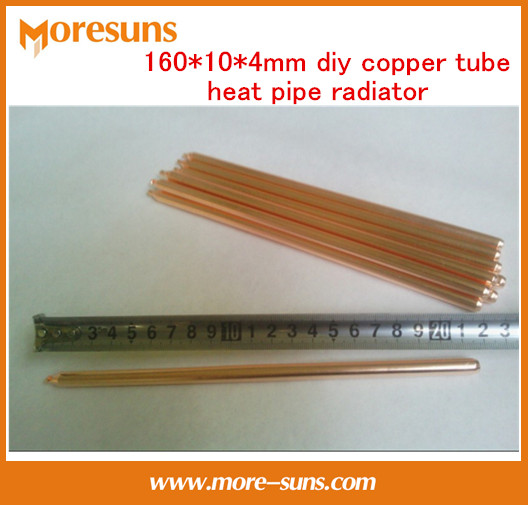 Free Ship 10pcs Copper heatpipe 160*10*4mm DIY Copper tube heat pipe radiator/sintered powder wick thermal solution heat sink(China (Mainland))