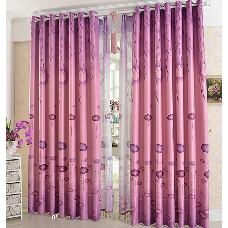 Punching Blackout Curtains Living Room Bedroom Study Pastoral Style ...