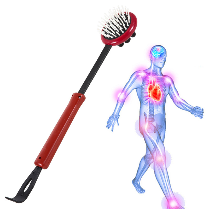 New Dual Use Body Head Massage Telescopic Extendable Full Body Back Scratcher Massager Adjustable Relaxation(China (Mainland))