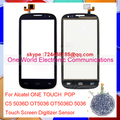 One World 1pcs lot Original Quality For Alcatel One Touch C5 5036D OT5036 OT5037D Touch Screen