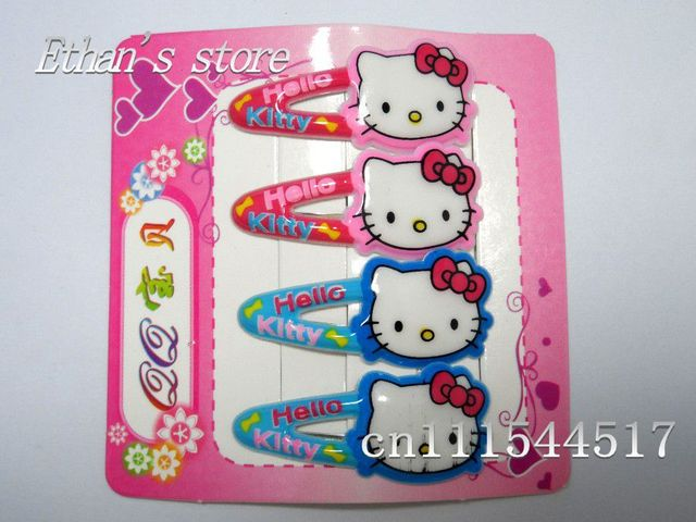 New Arrival Hello Kitty Hair Clips Prong Pin Barrette Baby Lots Free Shipping Mix Style