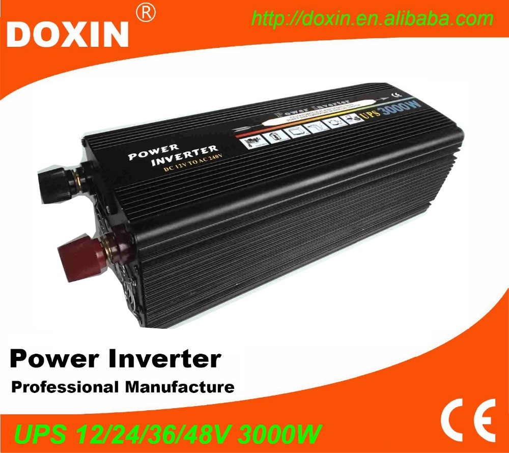 DC24v- AC 230v UPS Electric Power Inverter with Charger 3000W/3kw express online(China (Mainland))
