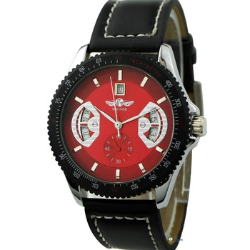 Top Brand Winnter Style Hot Selling Popular Automatic Mechanical PU Leather Wrist Watch Promotion Gift On Sell WY8030