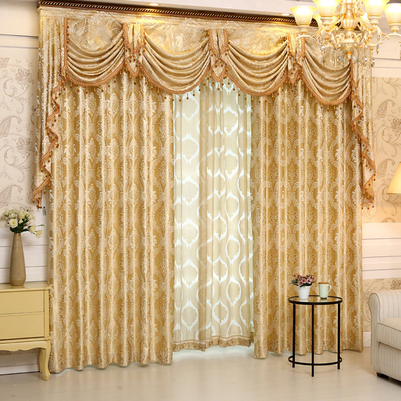 Buy 2016 Set New Europe Style Curtains Luxury Jacquard Curt