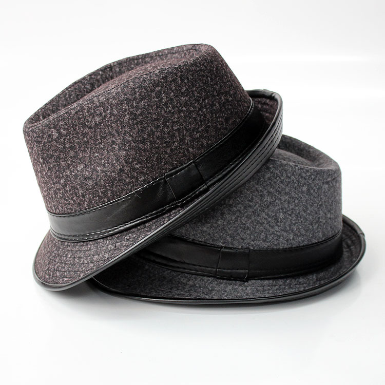 autumn winter fedoras hats for men snow skin side caps