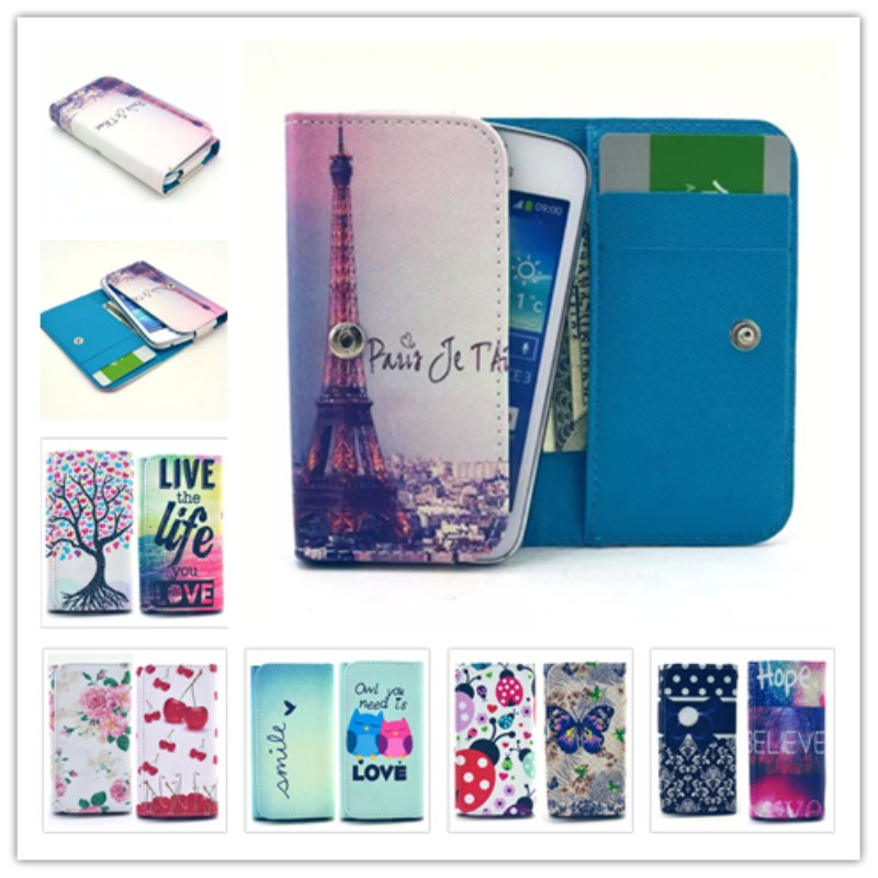 2016 Top Selling Painting Leather Phone Cases For BLU Energy Diamond Mini Wallet Style With Card Slot Back Cover Case(China (Mainland))